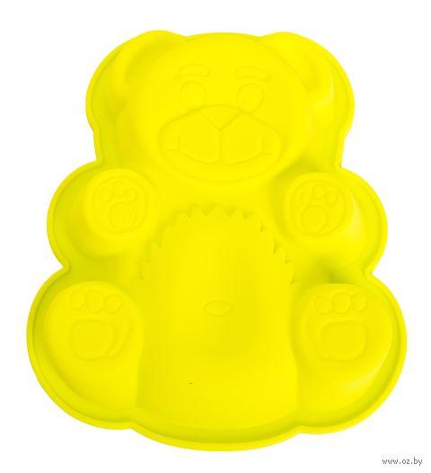 """Форма для выпекания силиконовая """"Мишка"""" (180х150x38 мм; зеленый) — фото, картинка"""