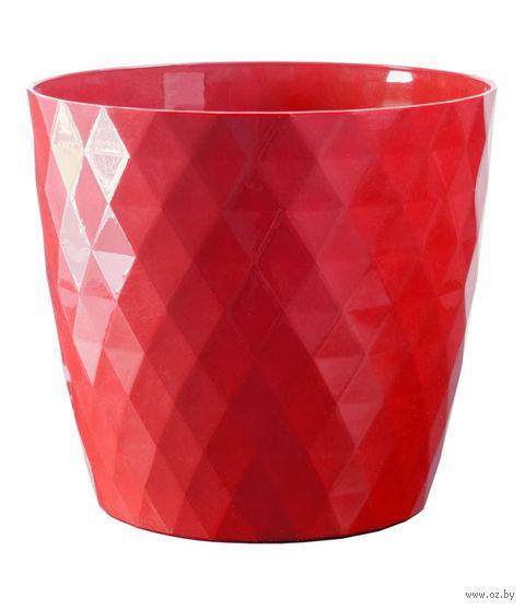 """Цветочный горшок """"Кристалл"""" (12 см; красный) — фото, картинка"""