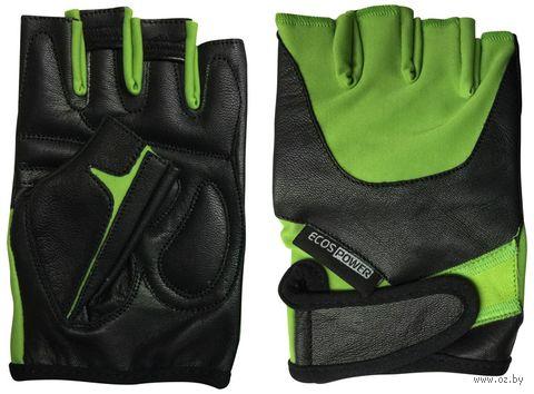 Перчатки для фитнеса 5102-GXL (XL; чёрно-зелёные) — фото, картинка