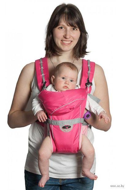 "Рюкзак-кенгуру ""BabyActive Simple"" (розовый) — фото, картинка"