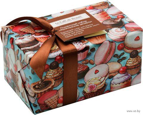 """Подарочный набор """"Французские десерты"""" (соль, мыло, крем, шар)"""