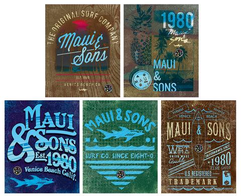 """Тетрадь в клетку """"Maui and Sons"""" 96 листов"""