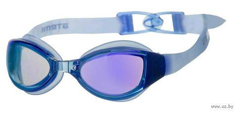 Очки для плавания (тёмно-синие; зеркальные; арт. N5100M) — фото, картинка