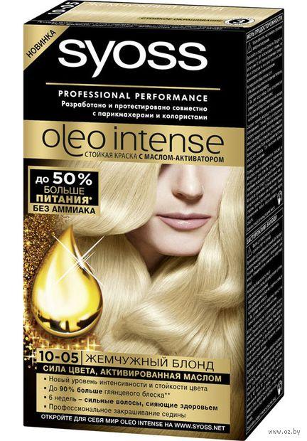 """Краска для волос """"Oleo intense"""" тон: 10-05, жемчужный блонд — фото, картинка"""
