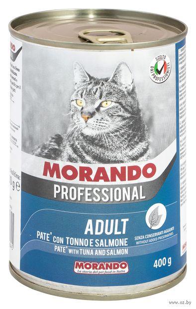 """Консервы для кошек """"Gatto"""" (400 г; лосось и тунец; арт. 01264) — фото, картинка"""