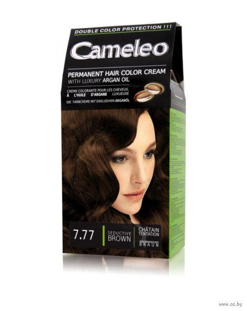 """Крем-краска для волос """"Cameleo"""" (тон: 7.77, соблазнительный коричневый) — фото, картинка"""