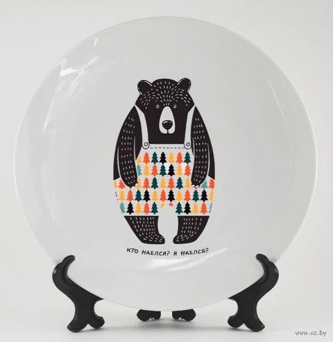 "Тарелка ""Медведь"" (арт. 064) — фото, картинка"