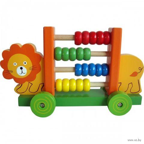 """Деревянная игрушка """"Счёты. Львёнок"""" — фото, картинка"""