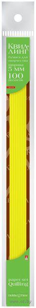 Бумага для квиллинга цветная (0,5х30 см; желтая; 100 шт.) — фото, картинка