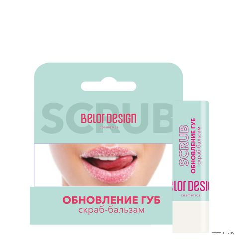 """Скраб-бальзам для губ """"Обновление губ"""", тон: прозрачный — фото, картинка"""