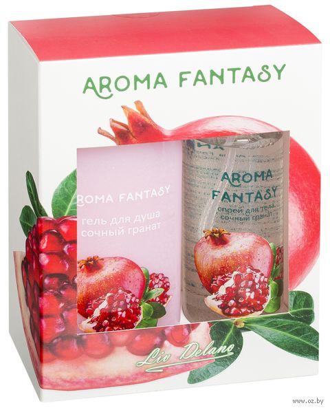 """Подарочный набор """"Aroma Fantasy. Сочный гранат"""" (спрей, гель для душа) — фото, картинка"""