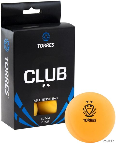 """Мячи для настольного тенниса """"Club"""" (6 шт.; 2 звезды; оранжевые) — фото, картинка"""