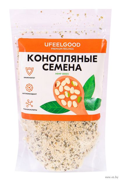 "Семена пищевой конопли ""Ufeelgood"" (150 г) — фото, картинка"