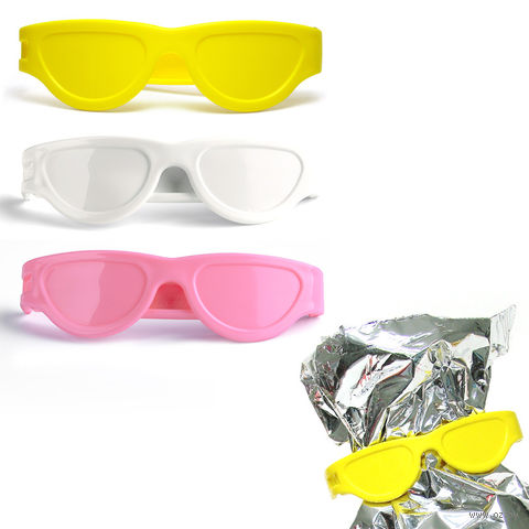 """Клипса для пакетов """"Bag Glasses"""" (3 шт.; белая/желтая/розовая)"""