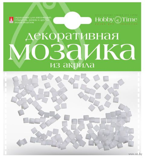 Мозаика декоративная из акрила №1 (4х4 мм; 200 шт.; белый) — фото, картинка