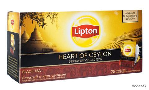 """Чай черный """"Lipton. Heart of Ceylon"""" (25 пакетиков) — фото, картинка"""