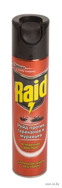 "Аэрозоль против тараканов и муравьев ""Raid"" (300 мл) — фото, картинка"