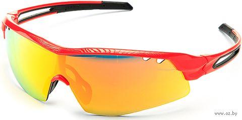 """Очки солнцезащитные """"S-15002-G"""" (красные) — фото, картинка"""