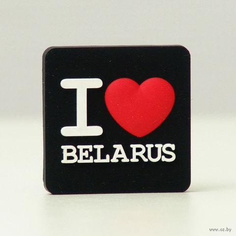 """Магнит Vitaem """"I LOVE BELARUS"""" (черный)"""