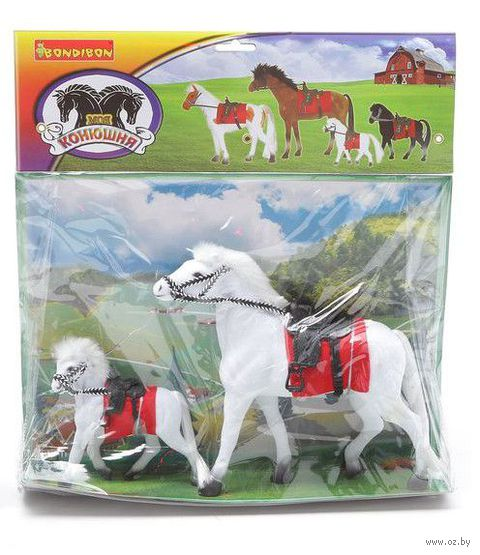 "Набор фигурок ""Лошадь с жеребенком"" — фото, картинка"