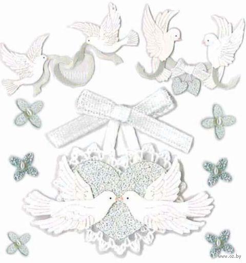 """Стикеры для скрапбукинга """"Джоли. Голуби"""" (арт. EKS-SPJB564) — фото, картинка"""