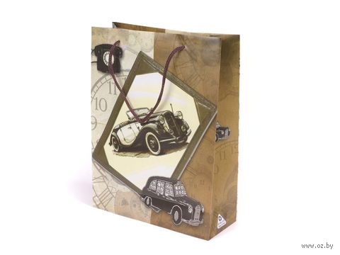 """Пакет пластиковый подарочный """"Автомобиль"""" (24х18х7 см; арт. 10577013)"""