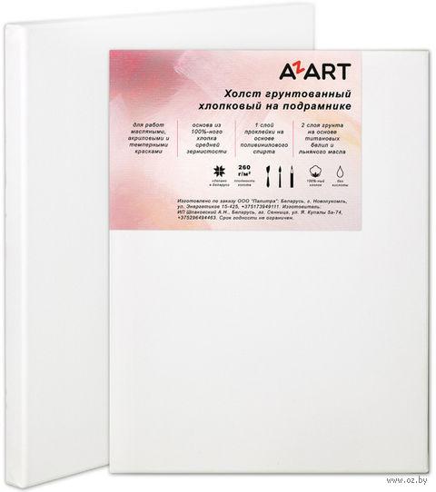 "Холст на подрамнике ""AZART"" (300х400 мм; масляный грунт; арт. AZ023040) — фото, картинка"