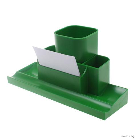 """Органайзер для рабочего стола """"Башня"""" (зеленый)"""