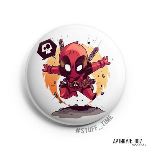 "Значок ""Deadpool"" (арт. 887) — фото, картинка"