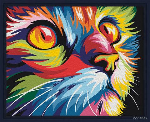 """Картина по номерам """"Красочный кот"""" (400х500 мм) — фото, картинка"""