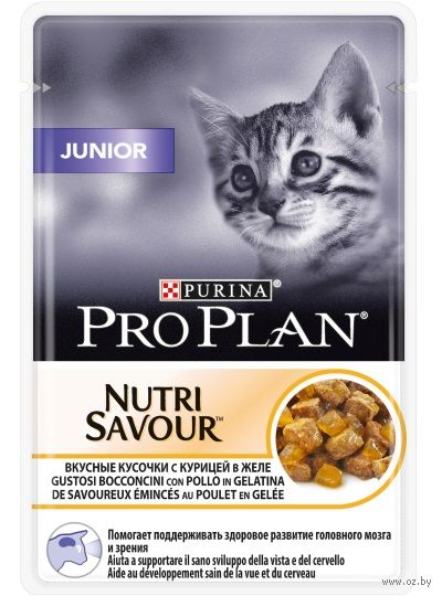 "Пресервы для котят ""Nutri Savour. Junior"" (85 г; курица в желе) — фото, картинка"