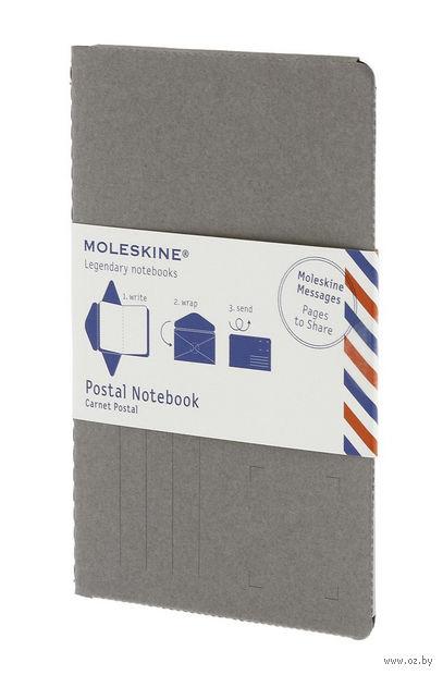 """Почтовый набор Молескин """"Postal Notebook"""" (большой; мягкая серая обложка)"""