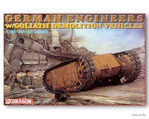 """Набор миниатюр """"German Engineers w/Goliath Demolition Vehicles"""" (масштаб: 1/35) — фото, картинка"""