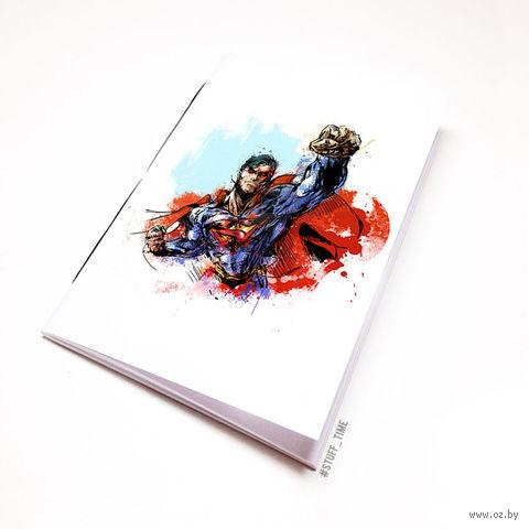 """Блокнот белый """"Супермен"""" А5 (арт. 880)"""