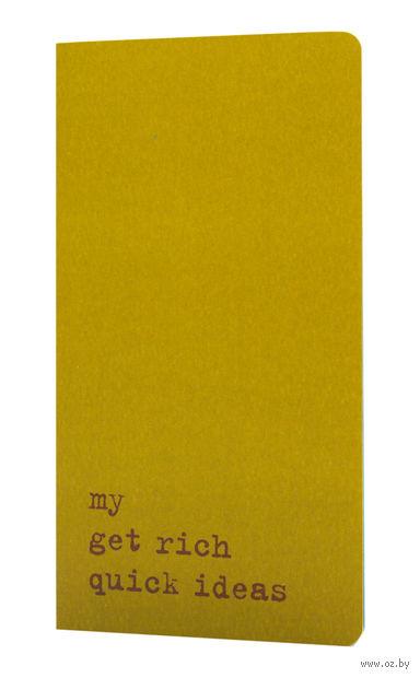"""Записная книжка Молескин """"Chapter. My Get Rich Quick Ideas"""" в точку (средняя; мягкая зеленая обложка)"""