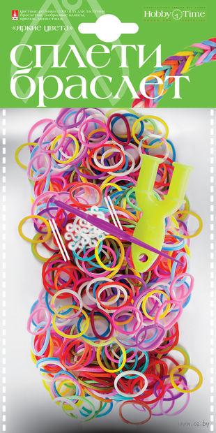 """Набор для плетения из резиночек """"Яркие цвета"""" (1000 шт.) — фото, картинка"""