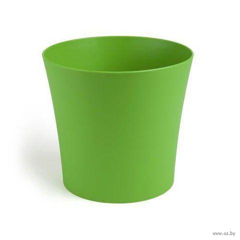 "Кашпо ""Фиалка"" (12,5 см; зеленое) — фото, картинка"