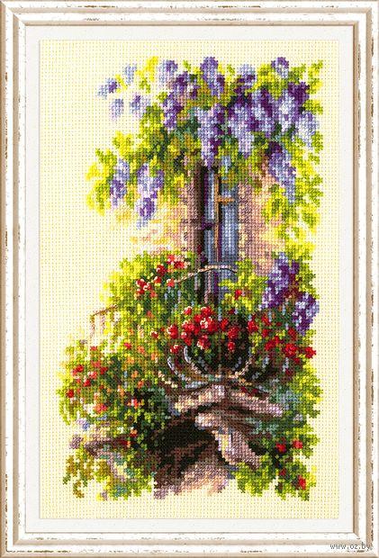 """Вышивка крестом """"Балкон возлюбленной"""" (150x230 мм) — фото, картинка"""