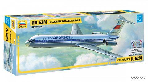 Пассажирский авиалайнер Ил-62М (масштаб: 1/144)