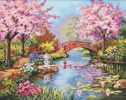 """Картина по номерам """"Японский сад"""" (410х510 мм; арт. DMS-91415)"""