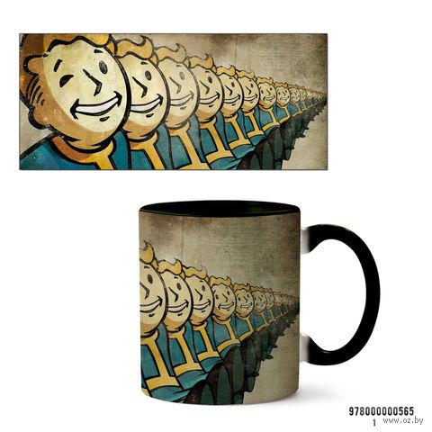 """Кружка """"Fallout"""" (черная; арт. 565) — фото, картинка"""