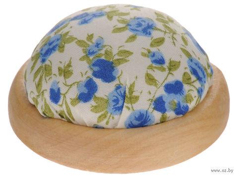 """Игольница-подушечка """"Голубые цветы"""" — фото, картинка"""