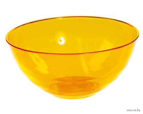 """Салатник """"Florencia"""" (3 л; оранжевый полупрозрачный) — фото, картинка"""
