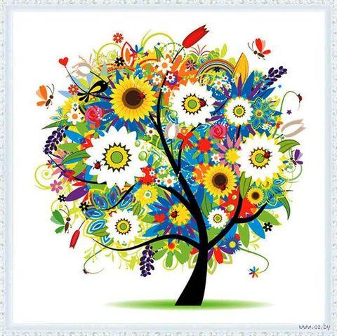 """Алмазная вышивка-мозаика """"Солнечное дерево"""" (500х500 мм) — фото, картинка"""