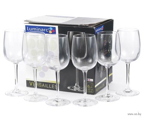 """Бокал для вина стеклянный """"Versailles"""" (6 шт.; 270 мл) — фото, картинка"""