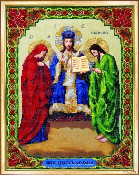"""Вышивка бисером """"Иисус Христос Царь Славы"""" (271х347 мм) — фото, картинка"""