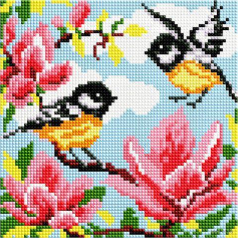 "Алмазная вышивка-мозаика ""Весна"" (200х200 мм) — фото, картинка"
