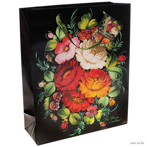 """Пакет бумажный подарочный """"С любовью"""" (26х32х10 см; арт. 10320925)"""