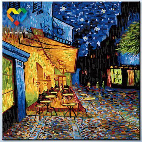 "Картина по номерам ""Ночная терраса кафе"" (400x400 мм; арт. HB4040027)"