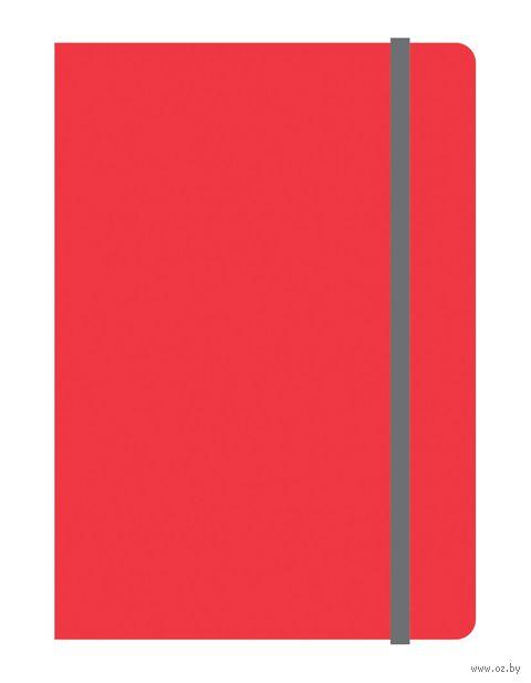 """Блокнот в клетку """"Elements"""" (А6; красный) — фото, картинка"""